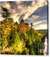 Quechee Gorge In The Fall  Acrylic Print