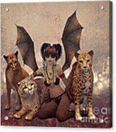 Queen Of Cats Acrylic Print