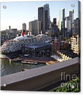 Queen Victoria Berthed In Sydney Acrylic Print