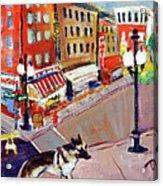 Queenie On Forsythe Street Manhattan Nyc Acrylic Print