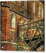 Queens' College And Mathematical Bridge Acrylic Print