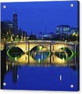 Queens Street Bridge, River Liffey Acrylic Print