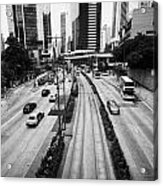 Queensway And Queens Road East In The Admiralty District Hong Kong Island Hksar China Acrylic Print