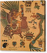 Quetzalcoatl, Aztec Feathered Serpent Acrylic Print