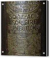 Quick Aid Extinguisher Acrylic Print