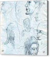 Quick Sketches Acrylic Print