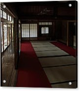 Quietude Of Zen Meditation Room - Kyoto Japan Acrylic Print