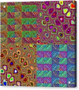 Quilted Fractals Acrylic Print