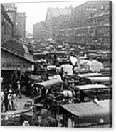 Quincy Market From Faneuil Hall - Boston - C 1906 Acrylic Print