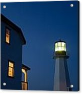 Quirpon Island Lighthouse And Inn Acrylic Print