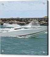 Race Boat Acrylic Print