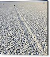Racetrack Death Valley Trail Of Mystery Acrylic Print