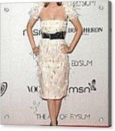 Rachel Bilson Wearing A Chanel Dress Acrylic Print by Everett