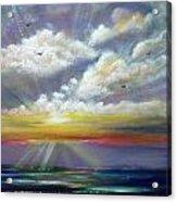 Radiance - Square Sunset Acrylic Print
