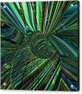 Radiant Digital Floral Fx  Acrylic Print