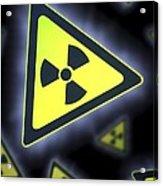 Radiation Warning Signs, Artwork Acrylic Print