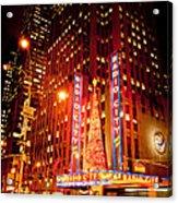 Radio City At Christmas Acrylic Print