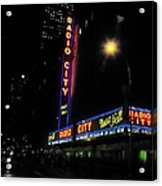 Radio City Music Hall - Greeting Card Acrylic Print