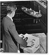Radio-controlled Model Tug, 1955 Acrylic Print