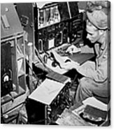 Radio Operator Operates His Scr-188 Acrylic Print by Stocktrek Images