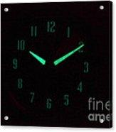 Radium Dial On Clock Acrylic Print