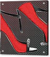 Raging Red Open Toed Stilettos Acrylic Print
