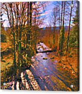 Raging River Near Preston Acrylic Print