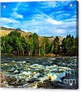 Raging River Acrylic Print by Robert Bales