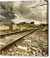 Rail Contrasts Acrylic Print