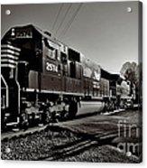 Rail Crossing Acrylic Print