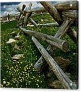 Rail Fence No.1812 Acrylic Print