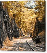 Rail Road Cut Acrylic Print