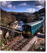 Railcar At Berwyn Acrylic Print