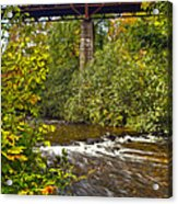 Railroad Bridge 7827 Acrylic Print by Michael Peychich