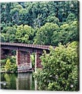 Railroad Bridge At East Falls Philadelphia Acrylic Print