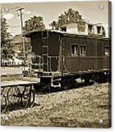 Railroad Car And Wagon Acrylic Print