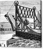 Railroad Drawbridge, 19th Century Acrylic Print