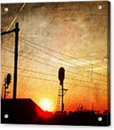 Railroad Sunset Acrylic Print