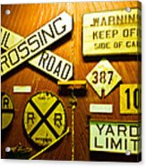 Railroad Talk Acrylic Print