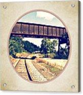 Railroad Tracks And Trestle Acrylic Print