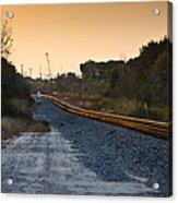 Railway Into Town Acrylic Print