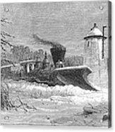 Railway Snow Plough, 1862 Acrylic Print