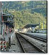 Railway Station West Interlaken Switzerland Acrylic Print