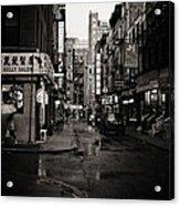 Rain - Pell Street - New York City Acrylic Print