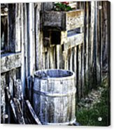 Rain Barrel Geranium Acrylic Print