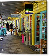 Rain Barrel Shops Acrylic Print by Tammy Chesney