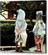 Rain Coats Acrylic Print