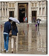 Rain In London Acrylic Print by Donald Davis