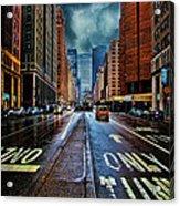 Rain On Park Avenue Acrylic Print