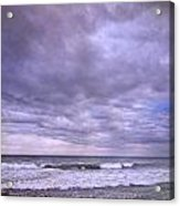 Rain Storm At The Sea Acrylic Print